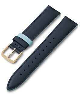 Correa de cuero de 20mm con pasador de color Azul large