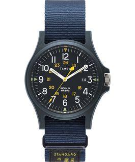Reloj Acadia de 40mm con correa de otomán Azul large