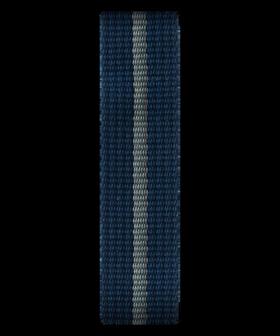 Correa de nylon deslizante azul/gris  large