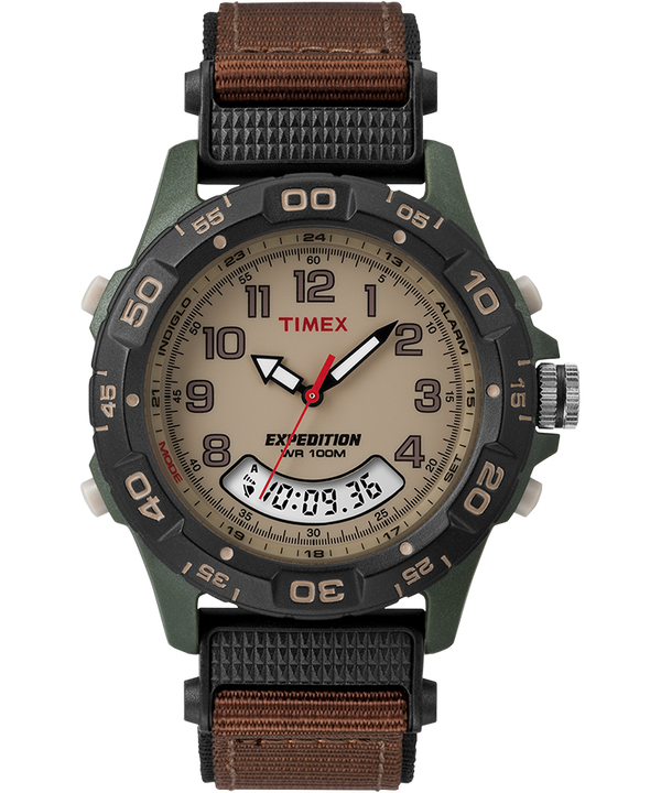 Reloj Expedition de 39 mm con correa de nylon Green/Brown/Tan/Black large