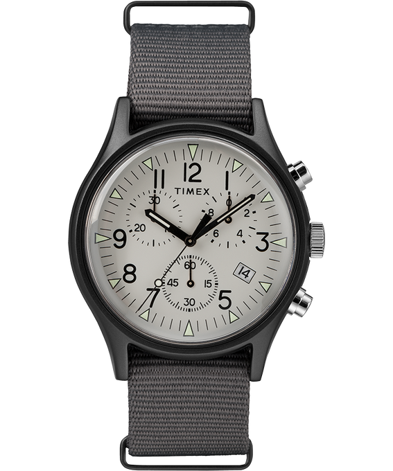 MK1 Aluminum Chronograph 40mm Nylon Strap Watch Gray large