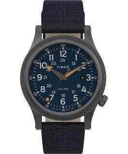 Allied LT 40mm Fabric Strap Watch Gris plomo/Azul large