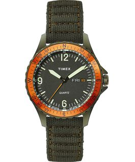Reloj Navi Land de 38mm con correa de tela Green/Green/Black large