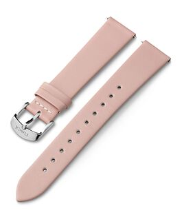 18mm Silver Tone Buckle Leather Strap Pink large