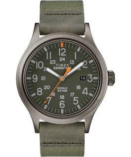 Reloj Scout de 40mm con correa de tela Gris/Verde large