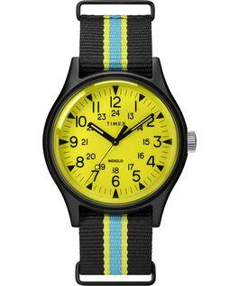 Reloj MK1 California de 40mm con correa de tela Negro/Amarillo large