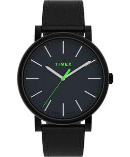 Reloj Originals de 42mm con correa de piel Negro large