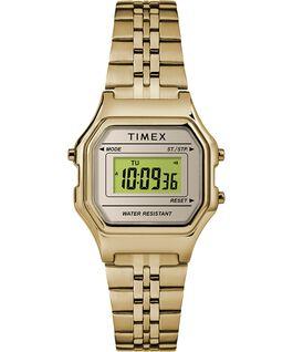 Reloj digital mini de 27mm con correa metálica Dorado large