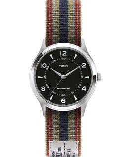 Reloj Whitney Village de 36mm con correa reversible de otomán reversible-1 Acero inoxidable/Negro large