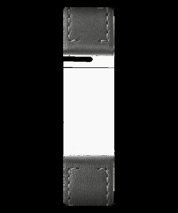 Correa de cuero color gris de dos piezas  large