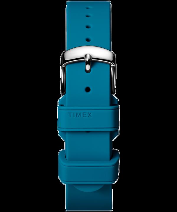 Correa de dos piezas en silicona de 18mm Blue large