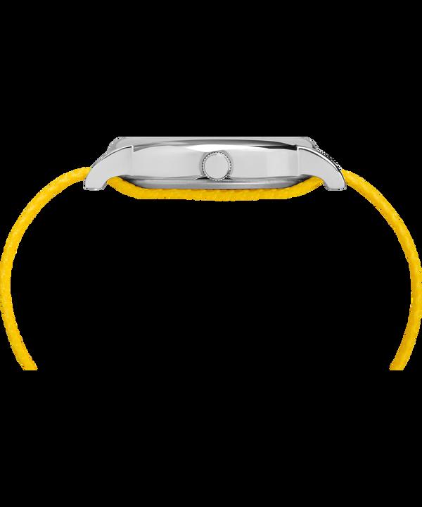 Timex x Peanuts - Reloj Charlie Brown de 38mm con correa de nylon Silver-Tone/Yellow/White large