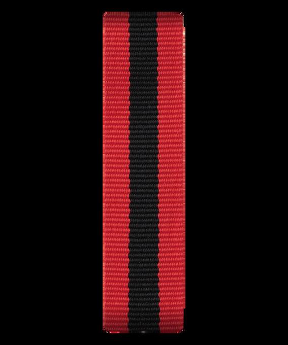 Correa deslizante de nylon color rojo/negro  large