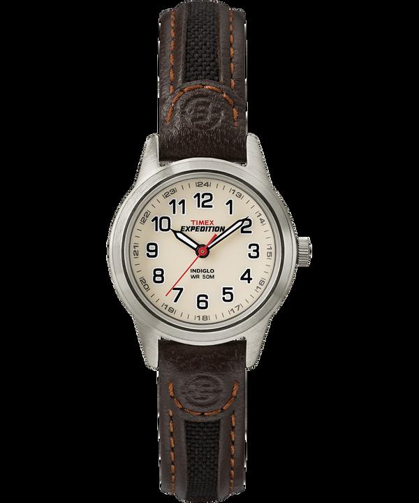 Reloj Expedition Field Mini de 26mm con correa de cuero Silver-Tone/Brown/Natural large