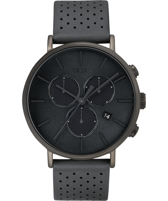 Fairfield Supernova 41mm Leather Strap Watch Gray large