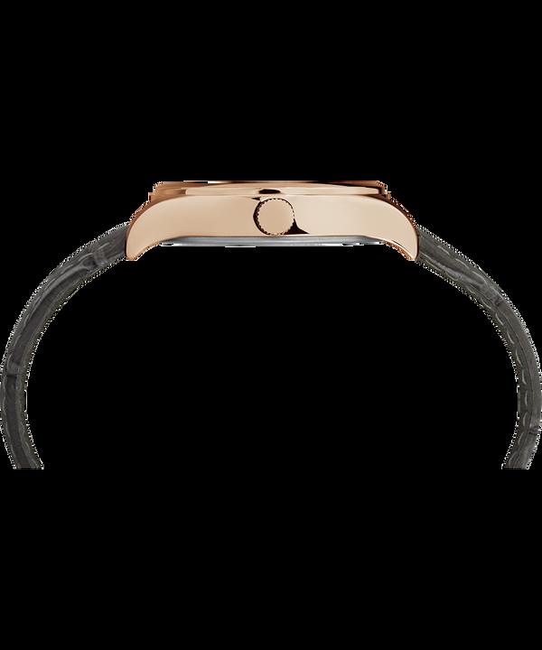 Reloj Waterbury de 34mm con correa de cuero para mujer Rose-Gold-Tone/Gray/White large
