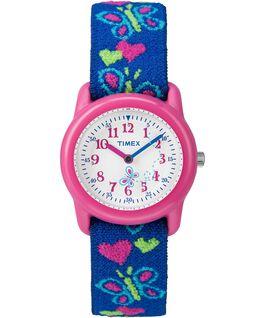 Reloj analógico de 29mm con correa de tela elástica para niños Pink/Blue/White large