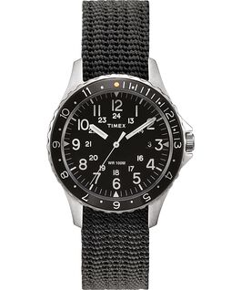 Reloj Navi Ocean de 38mm con correa de tela Acero inoxidable/Gris/Negro large