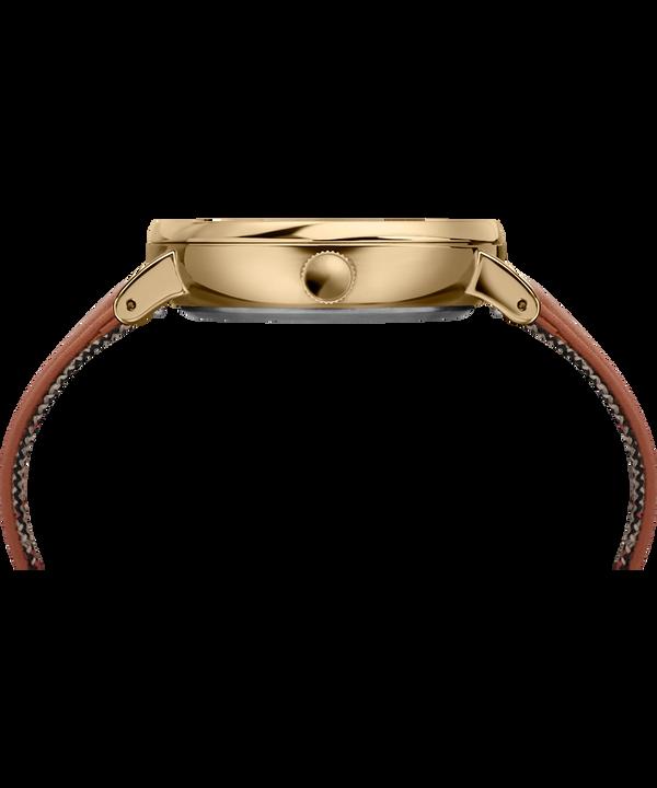 Reloj Fairfield Sub-Second de 41mm con correa de cuero Gold-Tone/Brown/Cream large