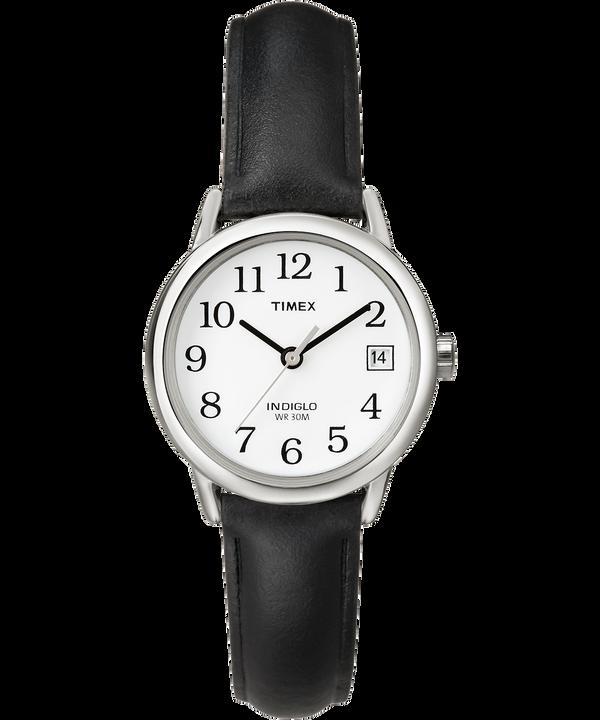 Reloj Easy Reader de 25mm con correa de cuero Silver-Tone/Black/White large
