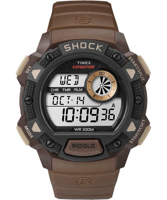 Expedition Base Shock Gauge 45mm Resin Strap Watch