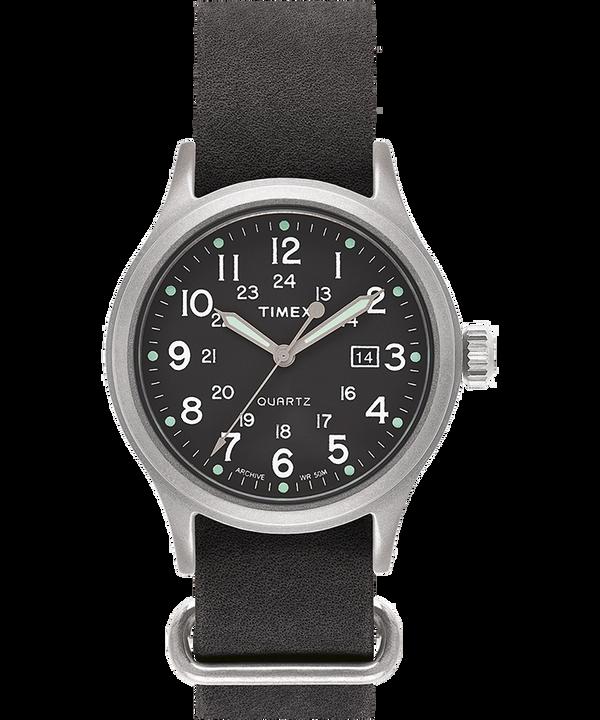 Reloj Allied de 40mm con correa de cuero lavado a la piedra  large