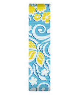 Correa de nylon color azul/amarillo deslizante  large