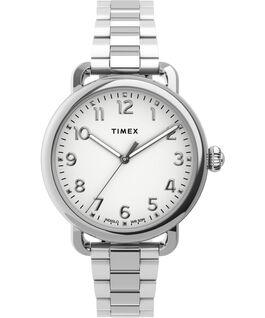 Reloj Standard de 34mm de acero inoxidable Plateado large