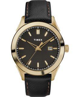 Reloj Torrington para hombre de 40mm con correa de cuero Dorado/negro large