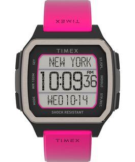 Reloj Command Shock de 47mm con correa de resina Naranja/Rosa large