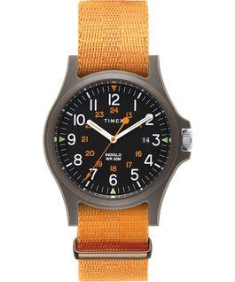 Reloj Acadia de 40mm con correa de tela Verde/Naranja/Negro large