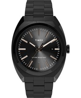 Reloj Milano XL de 38mm con correa metálica de acero inoxidable Negro large