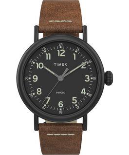 Reloj Standard de 40mm con correa de cuero Black/Brown/Black large