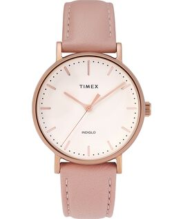 Fairfield 37mm Leather Strap Watch Rose-Gold-Tone/Pink/Cream large