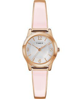 Pulsera elástica Fashion Stretch de 25mm Tono oro rosa/Plateado large