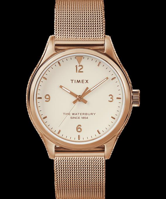 Waterbury Traditional Womens 34mm Mesh Bracelet Watch Rose-Gold-Tone/Cream large