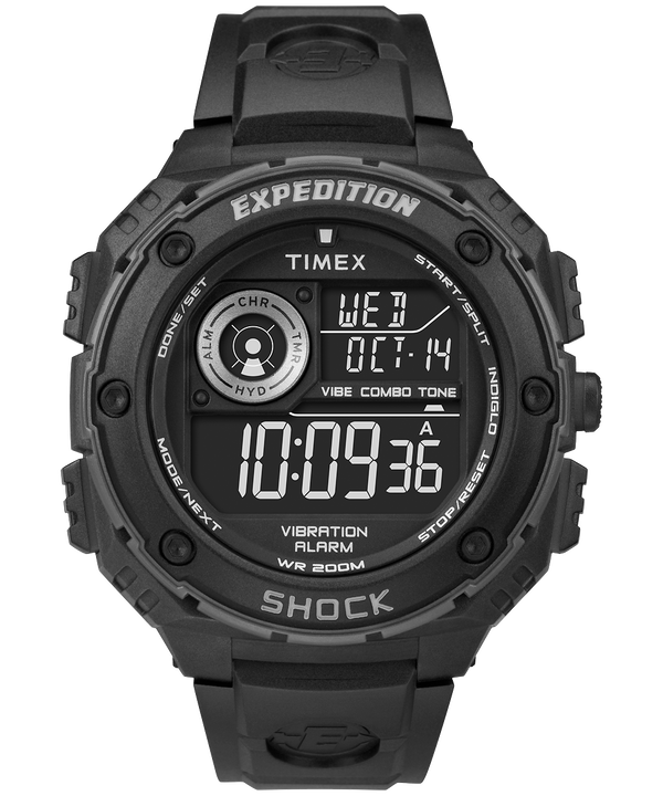 Reloj Expedition Vibe Shock de 50 mm con correa de resina Black/Gray large