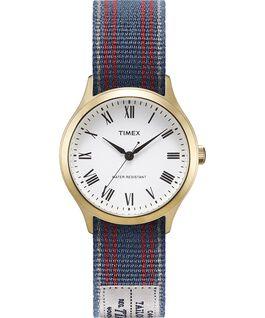 Reloj Whitney Avenue de 36mm con correa de otomán reversible Dorado/Blanco large