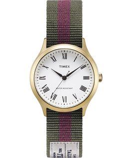 Reloj Whitney Avenue de 36mm con correa de otomán reversible-1 Dorado/Blanco large