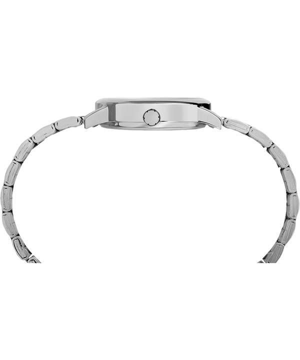 Reloj Easy Reader de 30mm con correa metálica Silver-Tone/White large