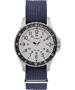 Reloj Navi Ocean de 38mm con correa de tela Blue/White large