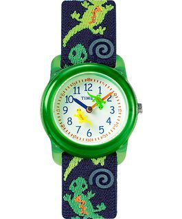 Reloj analógico de 29mm con correa de tela elástica para niños Green/Blue/White large