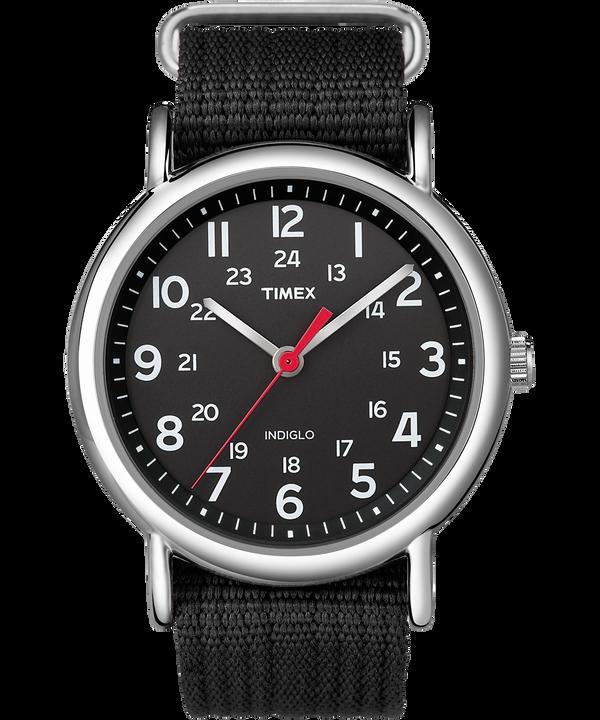 Reloj Weekender de 38mm con correa de nylon Silver-Tone/Black large