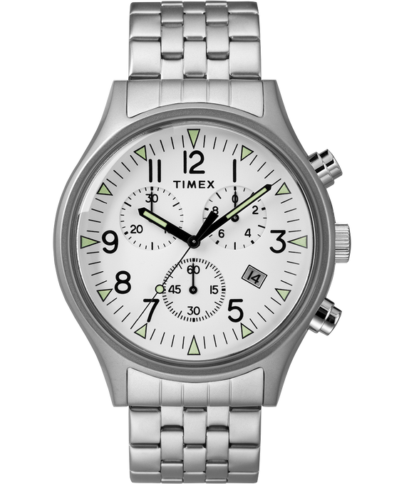 MK1 42mm Stainless Steel Watch Stainless-Steel/White large