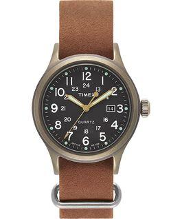 Reloj Allied de 40mm con correa de cuero lavado a la piedra Tono bronce/Marrón/Negro large