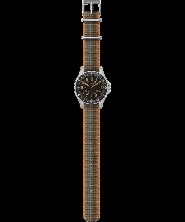 Reloj Navi Ocean de 38mm con correa de tela elástica Acero inoxidable/Negro large