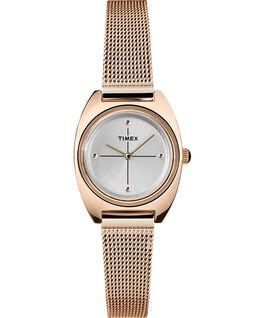 Reloj Milano pequeño de 24mm con correa de malla metálica Tono oro rosa/Plateado large