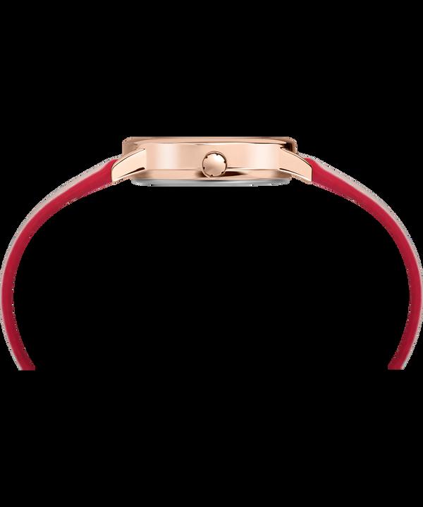 Reloj Easy Reader Color Pop de 30mm con correa de cuero Rose-Gold-Tone/Pink/Cream large