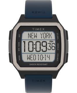 Reloj Command Shock de 47mm con correa de resina Negro/Azul large