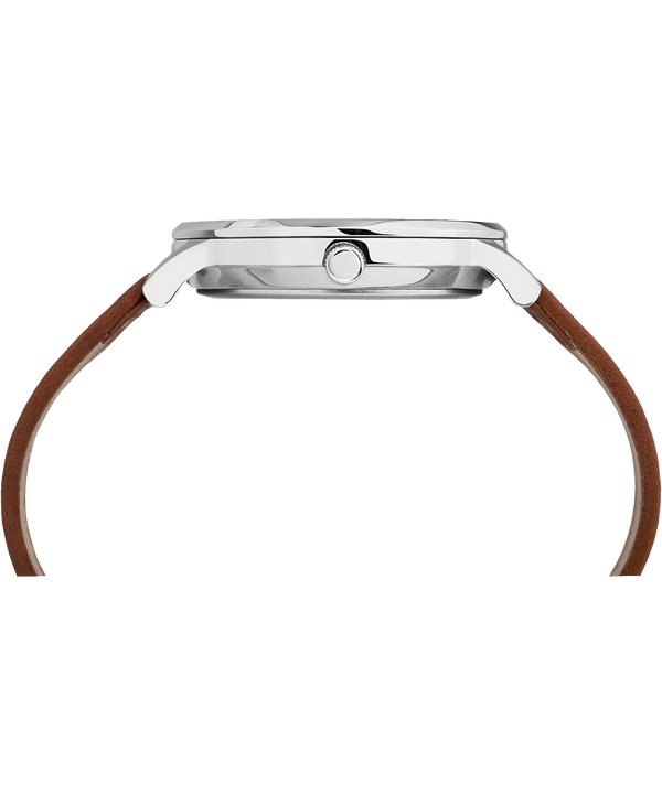Reloj Classic Waterbury de 40mm con correa de cuero Stainless-Steel/Tan/Black large
